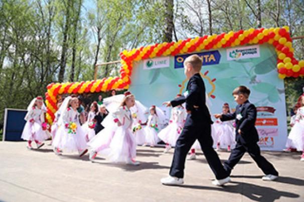 дети на празднике защиты детей